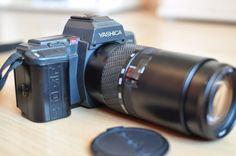Yashica Kyocera 230 AF 35mm SLR Film Camera with AF 70 - 210mm f4.5 Lens Vintage #Yashica