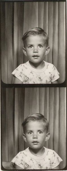 +~ Vintage Photo Booth Picture ~+  Adorable little tyke
