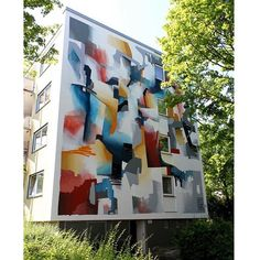 We haven't shown this wall from last year on insta so far... Getting in the mood for our wall on Mauritius  #quintessenz #mural #muralart #würzburg #streetmeet #wall #colors #abstract #abstractpainting #wandgeschichten Hello @tigapigs thanks for the good time last year
