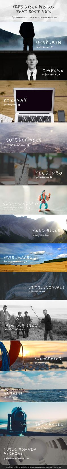 Free Stock Photography Websites Infographic Chart | Freebies for Blogging | Blogger Resources | Blog & Business Tips & Tricks | Photo Sites | Stock Clipart & Images | Web Design Help