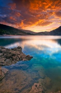 Lake Fiastra, Sibillini National Park, Marche, Italy