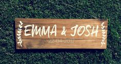 This item is unavailable Wedding Date Sign, Wedding Signs, Rustic Wedding, Custom Wooden Signs, Wedding Events, Weddings, Established Sign, Wedding Gifts For Couples, Online Print Shop