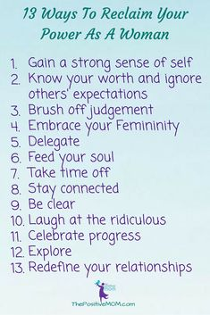 13 Ways To Reclaim Y