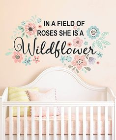 Look what I found on #zulily! 'She is a Wildflower' Wall Decal by DecorDesigns #zulilyfinds
