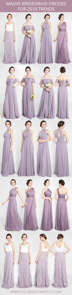 mauve bridesmaid dresses for 2018 trends #2018wedding #bridesmaiddresses #mauve