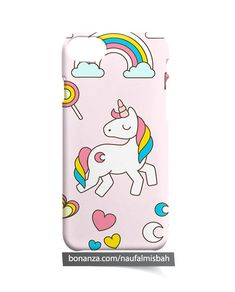 Unicorn College Art Animation iPhone 5 5s 5c 6 6s 7 8 + Plus X Case Cover