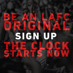Go to http://LAFC.com now, become an LAFC Original to get exclusive access to events and more. #BuildTogether