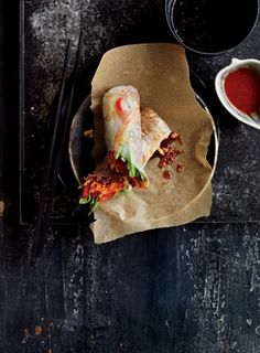 Sesame Ginger Quinoa Spring Rolls (Fit Pregnancy)  -Quinoa is high in folate (B vit)   -South American quinoa is also one of few grains that are a complete protein containing all 9 essential amino acids!