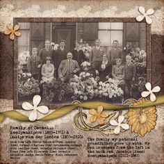 Heritage layout created with the My Heritage Graphic Pack by Robyn Gough @ the Creative Pixel, digiscrap, digital scrapbook,