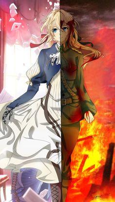 ~Violet Evergarden~ by Tomachi-chan on DeviantArt Chica Anime Manga, Kawaii Anime, Anime Art Girl, Manga Girl, Violet Evergarden Gilbert, Guerra Anime, Violet Evergarden Wallpaper, Wallpaper Bonitos, Violet Evergreen