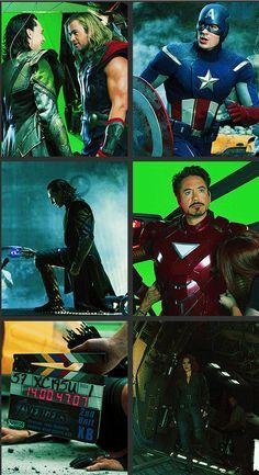Avengers, behind the scenes http://pinterest.com/yankeelisa/marvel-s-the-avengers/