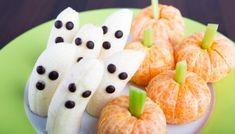 Bananenbösewichte vs. Mandarinen im Kürbiskostüm #banana #chocolate #snack #halloween #yummy #foodie #fotd #food