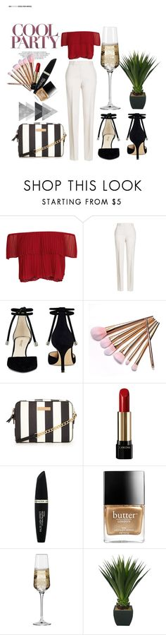 """Cool Party"" by heloune ❤ liked on Polyvore featuring Keepsake the Label, Jil Sander, Nine West, Lancôme, Max Factor, Butter London and Krosno"