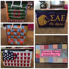Away Formal Cooler, Fraternity Cooler, Frat, Cooler, Cooler Decorating, Cooler Painting, SAE, Sigma Alpha Epsilon
