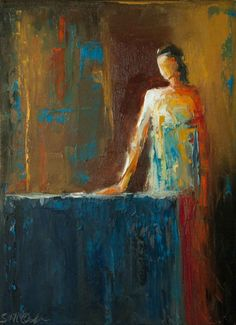 """""""Mistress of the House"""" By Shelby McQuilkin abstract figurative, oil painting, contemporary figurative, painting of a woman, textured painting, colorful painting"""
