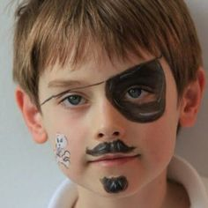 Simple/Easy Pirate Face Painting.