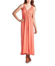 Teal Smocked Surplice Maxi Dress