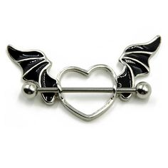 Bat Wing Heart Nipple Shield
