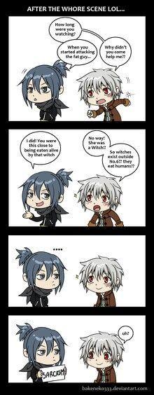 no.6 anime funny   Sarcasm. No. 6