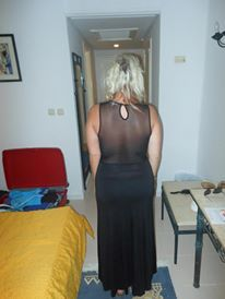 TX MAX Maxi Dress with See through back