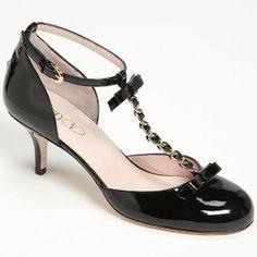 Valentino RED Black T-Strap + Mary Jane + Kitten Heel = Perfection