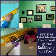 The Dabbling Crafter: DIY Paint Marker Accent Wall