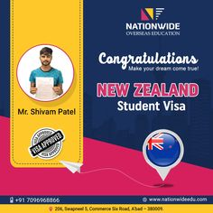 Congratulations & Bon Voyage for Overseas Education in New Zealand Study In New Zealand, Overseas Education, Good Luck To You, Dreaming Of You, Congratulations, Student, News, Happy, Advertising
