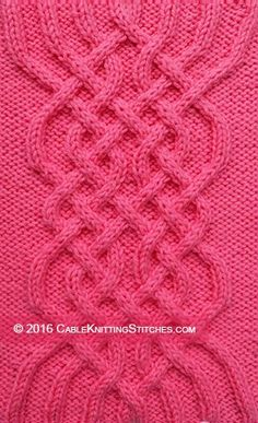 Cable Knitting Stitches » Celtic Patterns » Celtic Knot 1