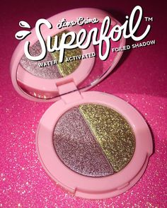 Launching June 21st, Lime Crime's game-changing metallic eyeshadow duo #Superfoils feature an innovative formula that turns from powder to LIQUID FOIL when spritzed with water!  Presenting our second reveal from our 6 duos, Electric/Barbarella!  (Yes, it is named after @doedeere's favorite Duran Duran song!) Follow us on Snapchat for an in-action shot, username: limecrimemakeup.