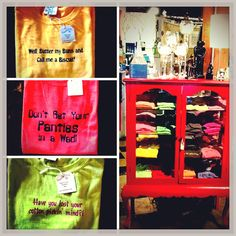 The perfect gift for your southern friends.   Sweet Tea T-shirts can be found at Southern Sass  @ The Cotton Company.