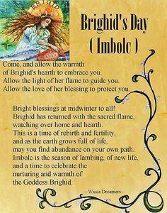 Imbolc:  Brighid's Day ~ #Imbolc.