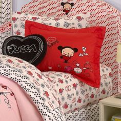 "Pucca ""Love"" Twin Size Sheet Set by Pucca. $15.99. Allover printed sheets with coordinating pillowcase. Flat Sheet: 66 by 96 inches Fitted Sheet: 39 by 75-inch+14-inch Pillowcase: 20 by 30 inches. Cotton Blend. Machine wash cold. 180TC Cotton blend. Twin size printed sheet set."