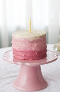 Naturally sweetened Apple Spice Cake with (no dye) Strawberry Cream Cheese Frosting   [good for a baby's first birthday.]
