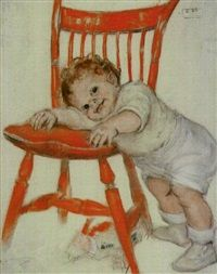 Take extra care in feeding during babys second summer, 1925 -- by Maud Tousey Fangel  (American, 1881--1968)