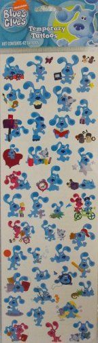 Blue's Clues 42 Temporary Tattoos by Nick Jr.. $10.99. Complete instructions. 42 Temporary Tattoos. Easy on Easy off. Blue's Clues 42 Temporary Tattoos.