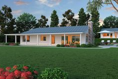 Ranch Style House Plan - 2 Beds 2.5 Baths 2507 Sq/Ft Plan #888-5 Exterior - Other Elevation - Houseplans.com