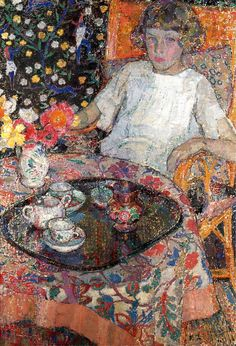 "Leon De Smet: ""A Girl-by the Table"", 1921"