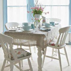 Make your own slip covers in 5 easy steps with the latest sewing project from Country Homes & Interiors. Choose a favourite fabric and add an instant update to a dining room or kitchen.