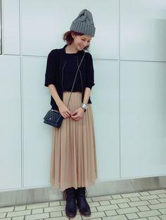 安田美沙子さんのスカート「MERCURYDUO 」を使ったコーディネート