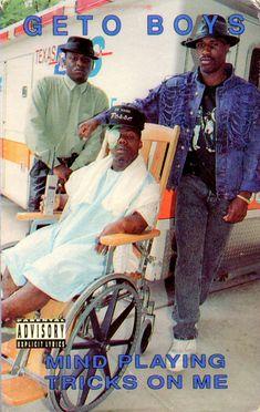 Geto Boys, Mind Playing Tricks On Me, cassette single, 1991 Hip Hop And R&b, Hip Hop Rap, Rap Music, I Love Music, New School Hip Hop, Rapper Delight, Hip Hop Classics, Hip Hop Songs, Rap Albums