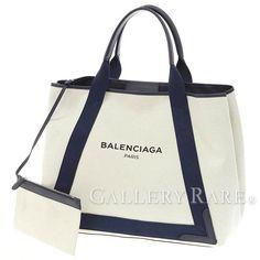 バレンシアガ トートバッグ ネイビーカバM キャンバス 339936 BALENCIAGA バッグ