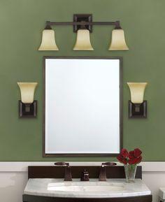 Bathroom sconces over mirror