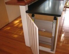 step stool storage-I need to think about where our step stool will go in the pantry door organizers.