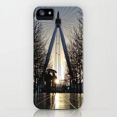 London Eye Sunset iPhone Case by alanisko - $35.00