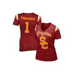 Nike USC Trojans Ladies Replica Football Premium T-shirt Cardinal ($32) ❤ liked on Polyvore