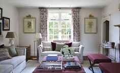 Cream Living Rooms, Cottage Living Rooms, Country Cottage Interiors, Decor Home Living Room, Luxury Interior Design, Drawing Room, Home Decor Inspiration, Decor Ideas, Surrey
