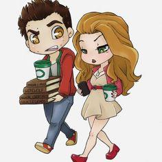 Lydia & Stiles (c) Teen Wolf Stiles Teen Wolf, Teen Wolf Isaac, Stiles E Lydia, Teen Wolf Stydia, Teen Wolf Memes, Sterek, Character Drawing, Comic Character, Teen Wolf Fan Art