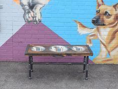 10% OFF Dog Feeder, Dog Furniture, Raise Dog Feeder, Industrial Chic, Dog Bowl Stand, Dog Feeding, Elevated Dog Bowl, Industrial, Pet Furnit by CleverRavenDogCo on Etsy https://www.etsy.com/listing/538178191/10-off-dog-feeder-dog-furniture-raise