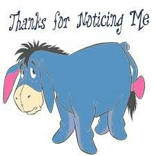 Thanks for noticin me Eeyore Quotes, Winnie The Pooh Quotes, Disney Winnie The Pooh, Eeyore Pictures, Cute Pictures, Disney Fun, Baby Disney, Pooh Bear, Tigger
