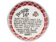 Dip Recipe Plate Kitchen & Bar Novelties and other Ohio State Buckeyes products at OhioStateBuckeyes.com #GoBucks